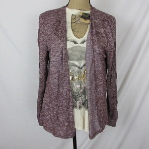 NWT SELF ESTEEM Juniors/' Lace-Up Sleeve Cardigan /& Graphic T-Shirt Two Piece Set